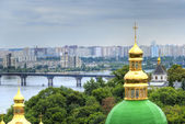 Lavra cupola in koev — Stock Photo