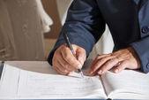 Wedding signature — Stock Photo