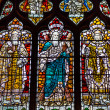 Stained glass in a church window — Stock fotografie