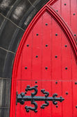 Detail of a medieval door in a church — Foto Stock