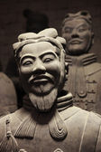 Terracotta warriors in China — Stock Photo