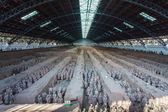 Terracotta army in hall, Xian China — Stock Photo