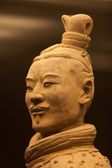 Terracotta warrior in close up — Stock Photo