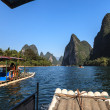 Tourist boats on the Li river  — Stock Photo