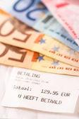 Bill in de eurobankbiljetten — Stockfoto