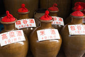 Traditional chinese wine bottles — Stock Photo