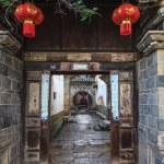 Traditional chinese street corridor — Stock Photo #25474045