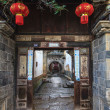 Traditional chinese street corridor — Stock Photo
