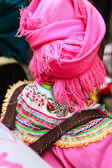 Traditional chinese tribal hat — Foto Stock