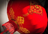 Red lantern in a street — Stock Photo
