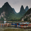 Tourist boats at the Li river — Stock Photo #25844983