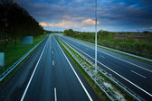 Highway at sunset — Stock Photo