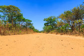 Abandon sand road in Africa — Stock Photo
