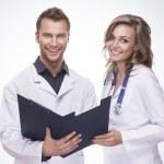 Portrait of a smiling doctors — Stock Photo