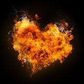 Fiery heart — Stock Photo