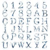 All smoky alphabet — Stock Photo