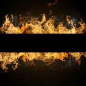 Fire flames with copyspace — Stock Photo