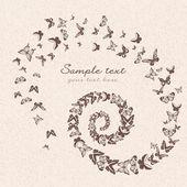 Prachtige vector patroon met vlinders — Stockfoto