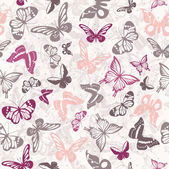 Seamless vector pattern with butterflies — Stock Photo