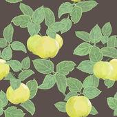 Textura vector sem costura com maçãs — Foto Stock