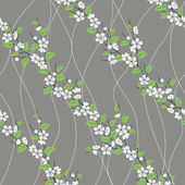 Patrón sin costuras vector con rama de sakura — Foto de Stock