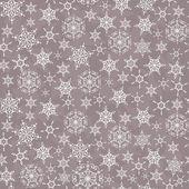 Christmas seamless pattern with snowflakes — Stock Photo