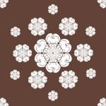 Seamless snowflakes background — Stock Photo