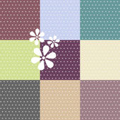 Seamless polka dotted patterns — Stock Photo