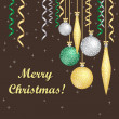 Vector card with Christmas balls — Stock Photo #14703203