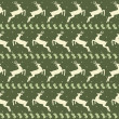 Ethnic Christmas seamless pattern with deer — Stock Photo