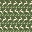 Stock Photo: Ethnic Christmas seamless pattern with deer