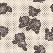 Vector rose seamless pattern — Stock Photo