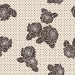 Stock Photo: Vector rose seamless pattern