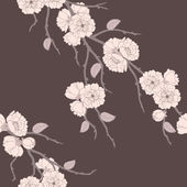 Beautiful vector seamless pattern with sakura — Stock Photo