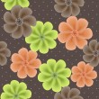 cute seamless floral pattern — Stock Photo