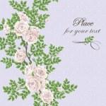 Retro romantic card with roses — Stock Photo #18572047