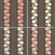Seamless background set of vintage flowers — Stock Photo