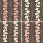Seamless background set of vintage flowers — Stock Photo #18572065