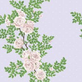 Retro romantic pattern with roses — Stock Photo
