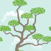 Seamless mönster med abstrakt träd — Stockfoto