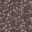 Stock Photo: Seamless pattern with butterflies