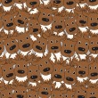 Vector seamless pattern with deers — Stock Photo