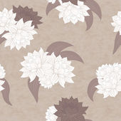 Vector seamless flowers pattern — Stock Photo