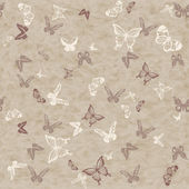 Seamless pattern with butterflies — Stockfoto
