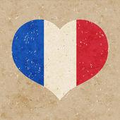 Nationale vlag van frankrijk. — Stockvector
