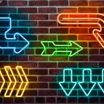 Urban neon arrows — Stock Vector #20116221