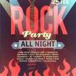 Rock party vector — Stock Vector