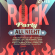 Stock Vector: Rock party vector