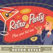 Retro party vector with place for your text — ストックベクタ