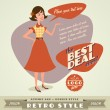 Retro vector with place for your text - Stockvektor